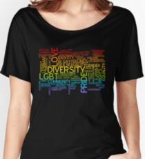LGBT words cloud Women's Relaxed Fit T-Shirt