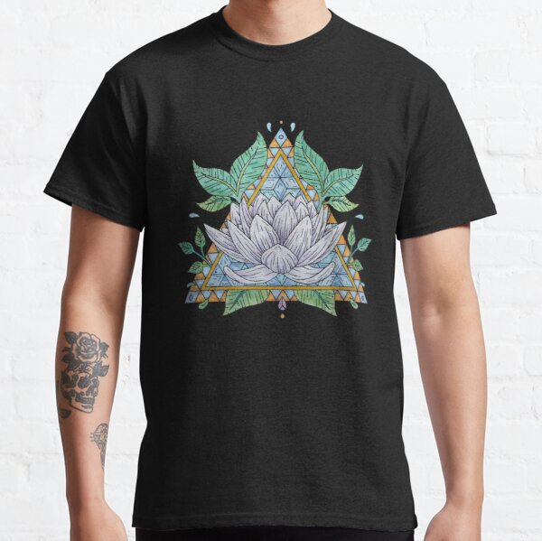 Stained Glass Lotus Illustration Classic T-Shirt