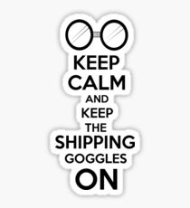 Shipping goggles Sticker