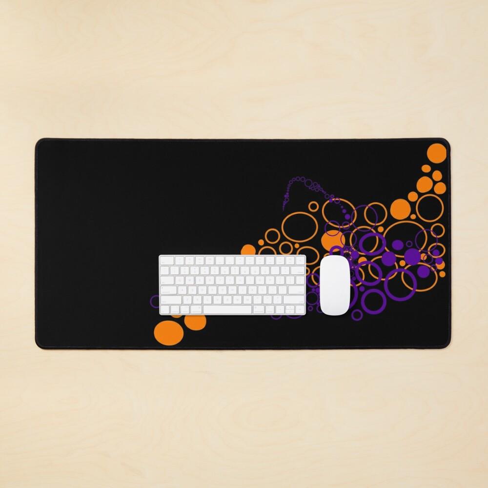 Orange & Purple circles Abstract  Mouse Pad