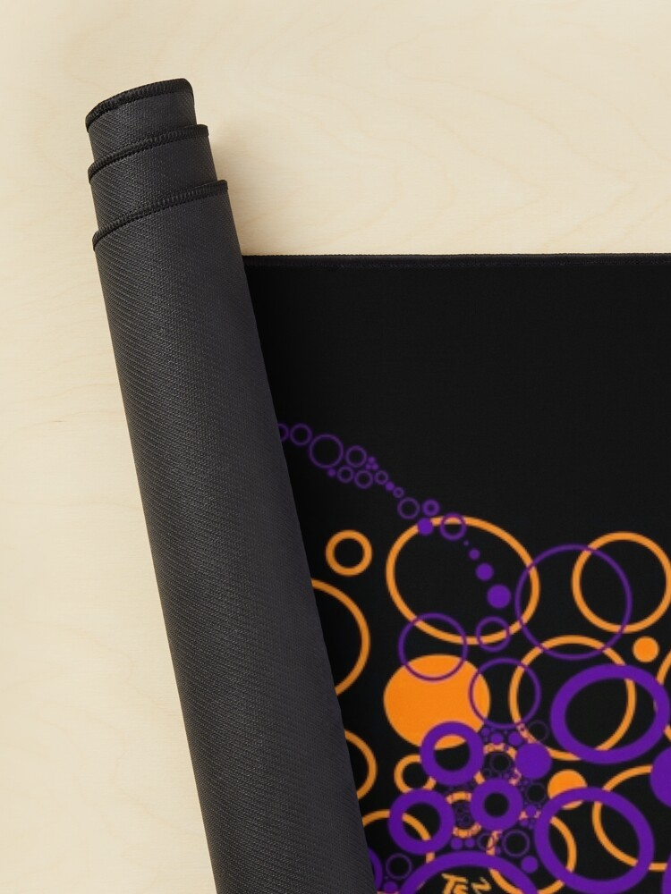 Alternate view of Orange & Purple circles Abstract  Mouse Pad