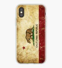 California Republic Flag Rustic  iPhone Case