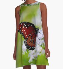 Monarch Butterfly A-Line Dress