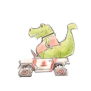 T Rex Driving School by SourLimeDesigns