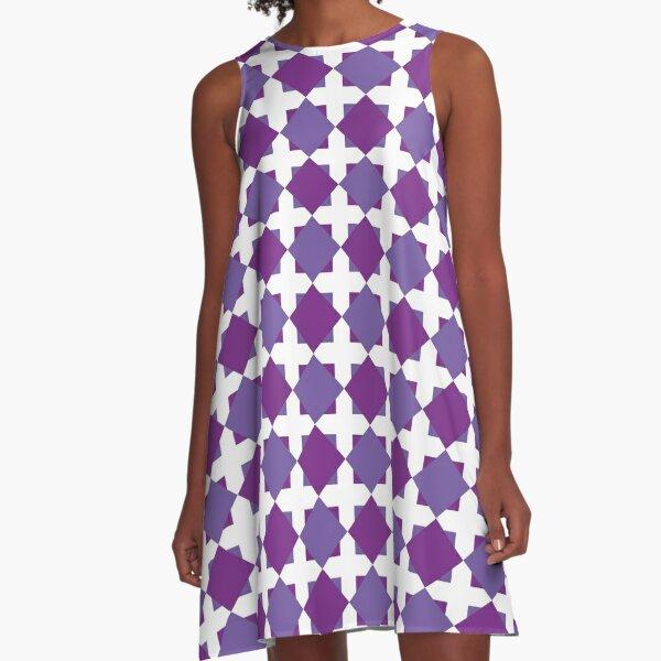 Playful squares A-Line Dress