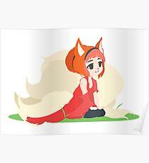 Kitsune Vector Poster