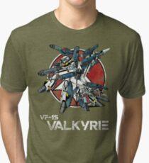 Vintage Skull Squadron Tri-blend T-Shirt
