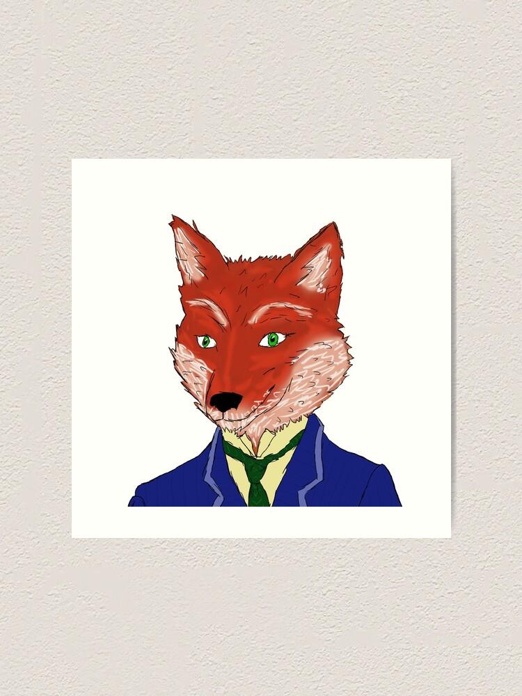 Fantastic Mr Fox Art Print By Spiderboom Redbubble