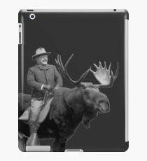 Teddy Roosevelt Riding A Bull Moose iPad Case/Skin