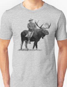 Teddy Roosevelt Riding A Bull Moose Unisex T-Shirt