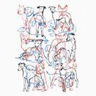 Dachshund vs Whippet vs Boston Terrier by PaulVizzari