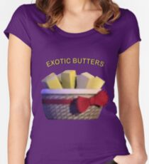 Basket of Exotic Butters Women's Fitted Scoop T-Shirt