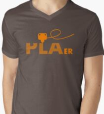 PLAer 3D Printer Enthusiast Men's V-Neck T-Shirt