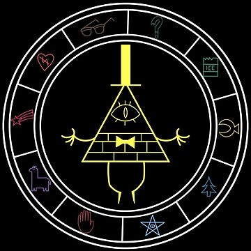 Gravity Falls - The Zodiac (colored) by AngelGhosty