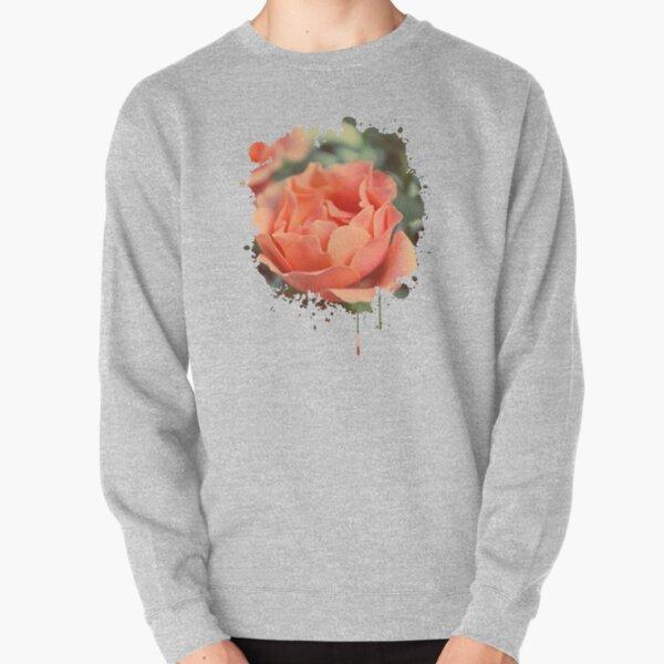 Secret Garden | Peach rose Pullover Sweatshirt