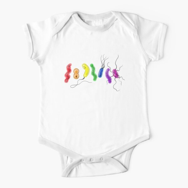 Pride Rainbow Bacteria Short Sleeve Baby One-Piece