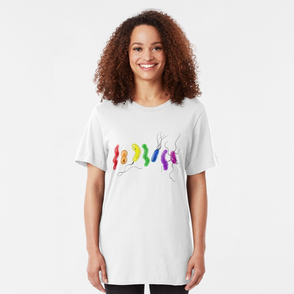 Pride Rainbow Bacteria Slim Fit T-Shirt