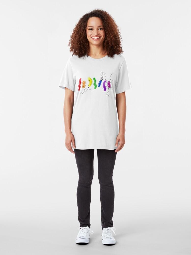 Alternate view of Pride Rainbow Bacteria Slim Fit T-Shirt