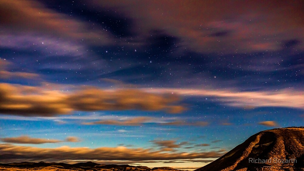 Moonlight over Painted Hills 2 by Richard Bozarth