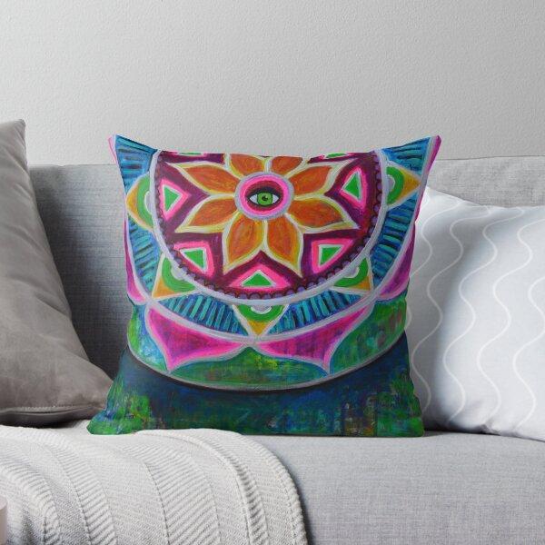Clarity Mandala Throw Pillow
