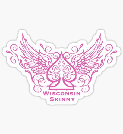 Wisconsin Skinny Ace of Spades  Sticker