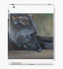 Black Wolf Resting iPad Case/Skin