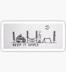 Keep it Simple Sticker