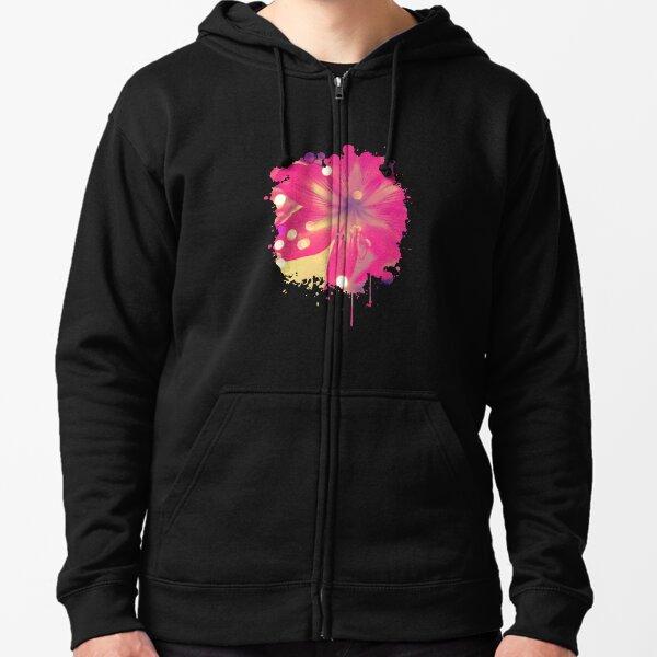 Secret Garden | Pink tigress  Zipped Hoodie