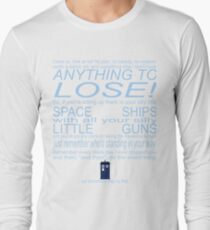 The Doctor's Speech at the Pandorica Long Sleeve T-Shirt
