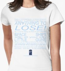 The Doctor's Speech at the Pandorica Women's Fitted T-Shirt