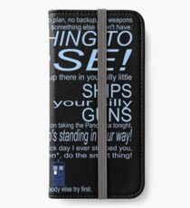 The Doctor's Speech at the Pandorica iPhone Wallet/Case/Skin