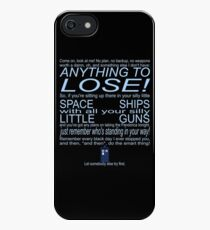 The Doctor's Speech at the Pandorica iPhone SE/5s/5 Case