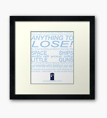 The Doctor's Speech at the Pandorica Framed Print