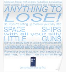 The Doctor's Speech at the Pandorica Poster