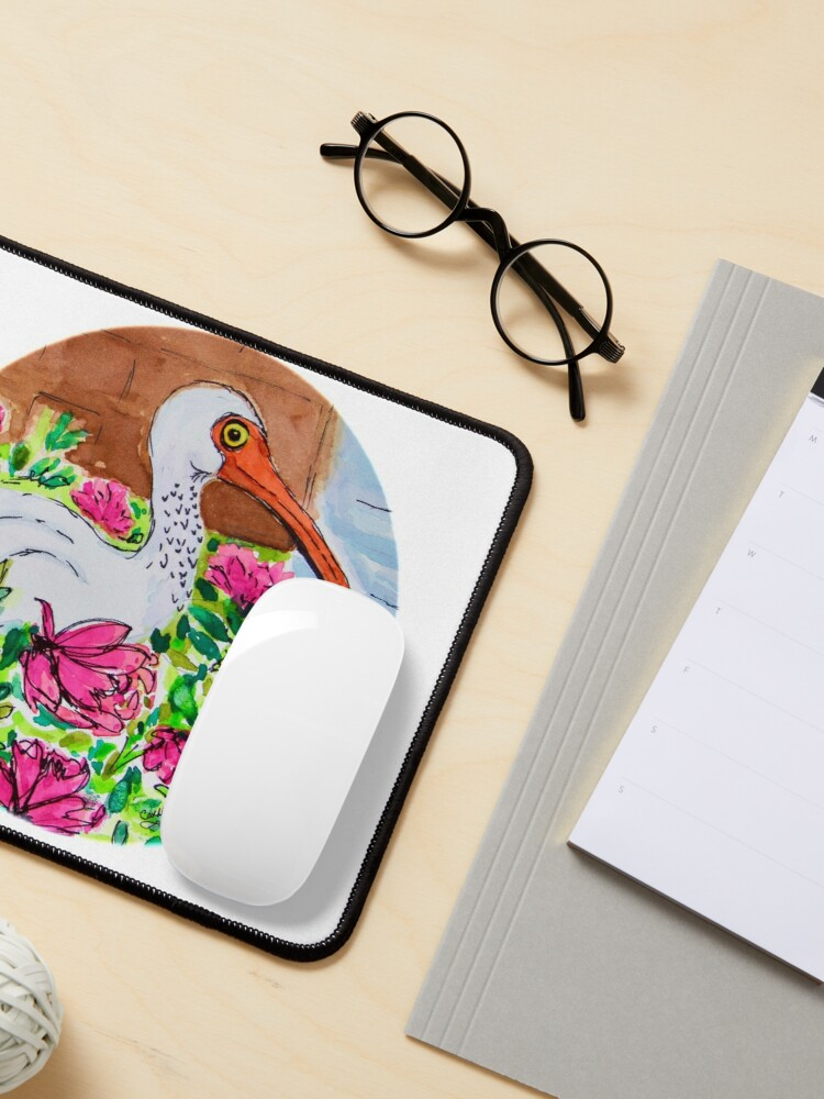 Alternate view of Cindy's Ibis Mouse Pad
