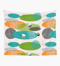 Mid-century modern ovals Wall Tapestry
