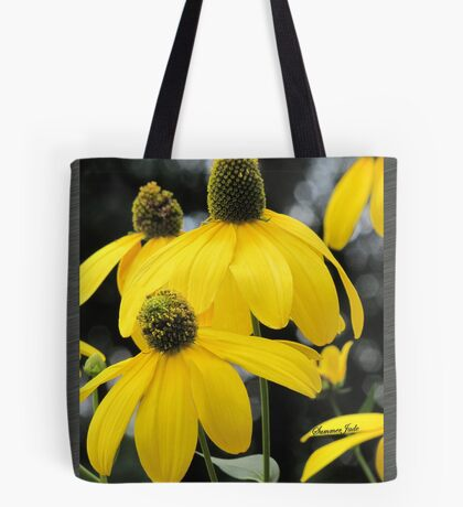 Bright Colored Wind Tossed Flowers Tote Bag
