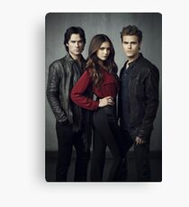 Salvatore Brother and Elena The Vampire Diaries Canvas Print