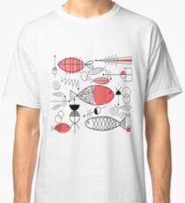 Mid-Century Fish Salmon Pink Classic T-Shirt