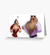 Gaston vs. Beast Greeting Card