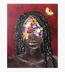 Girl In The Braids Photographic Print