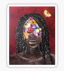 Girl In The Braids Sticker