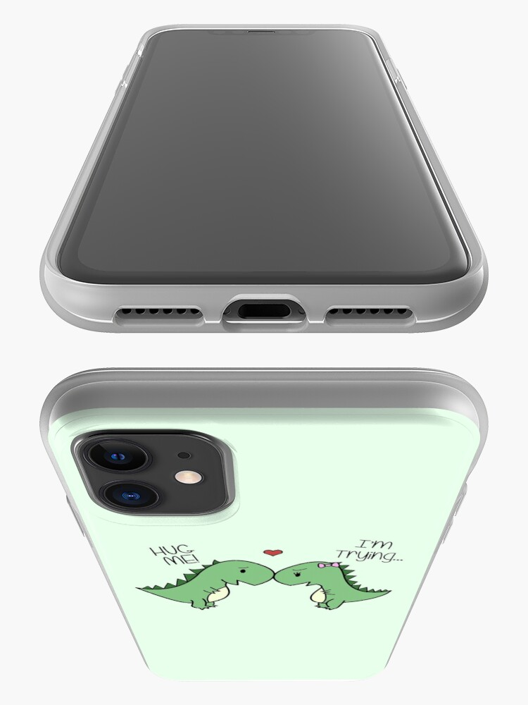 Alternate view of Dino Love! (Hug Me!) iPhone Case & Cover