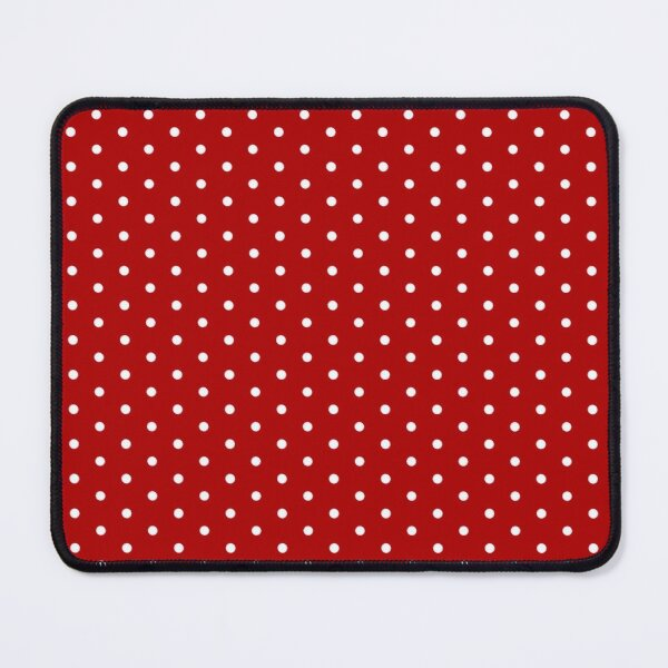 Red Background With White Polka Dots Mouse Pad