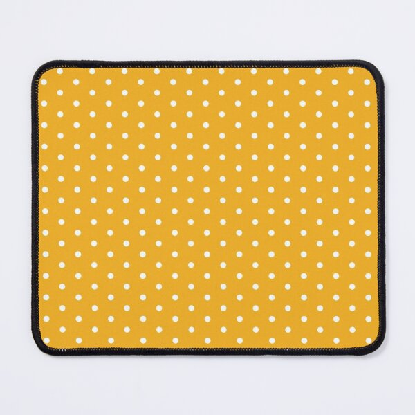 Orange Background With White Polka Dots Mouse Pad
