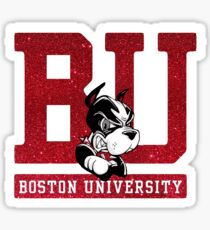 Boston University Glitter Sticker
