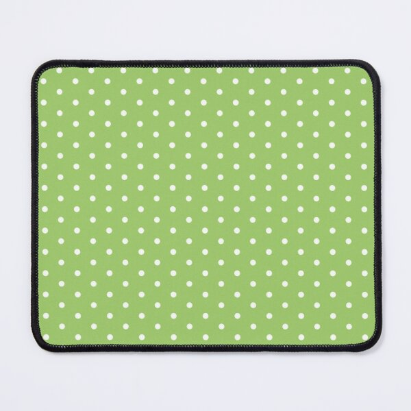 Green Background With White Polka Dots Mouse Pad