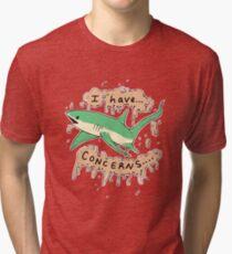 Shark with Concerns Tri-blend T-Shirt