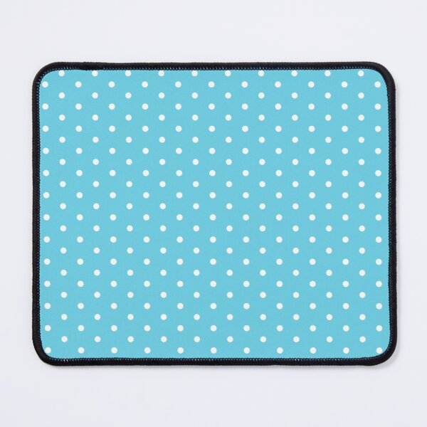Blue Background With White Polka Dots Mouse Pad