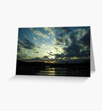 Sunset Divide Greeting Card
